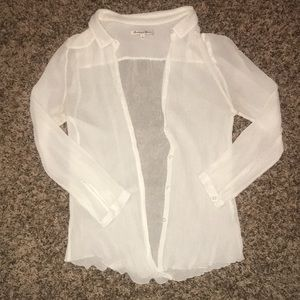 Madewell sheer blouse